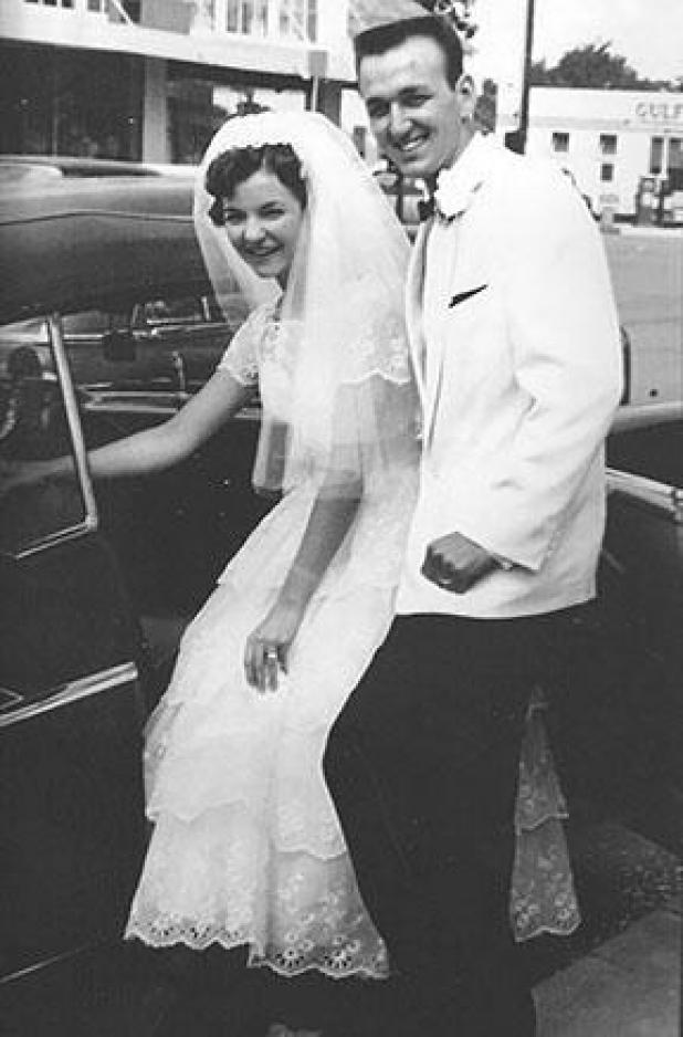 The Sonniers  on their wedding day.